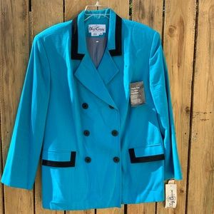 Vintage 80s 90s Oleg Cassini Blazer Double Breast